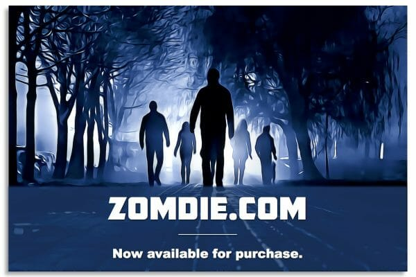 Zomdie.com is for sale.